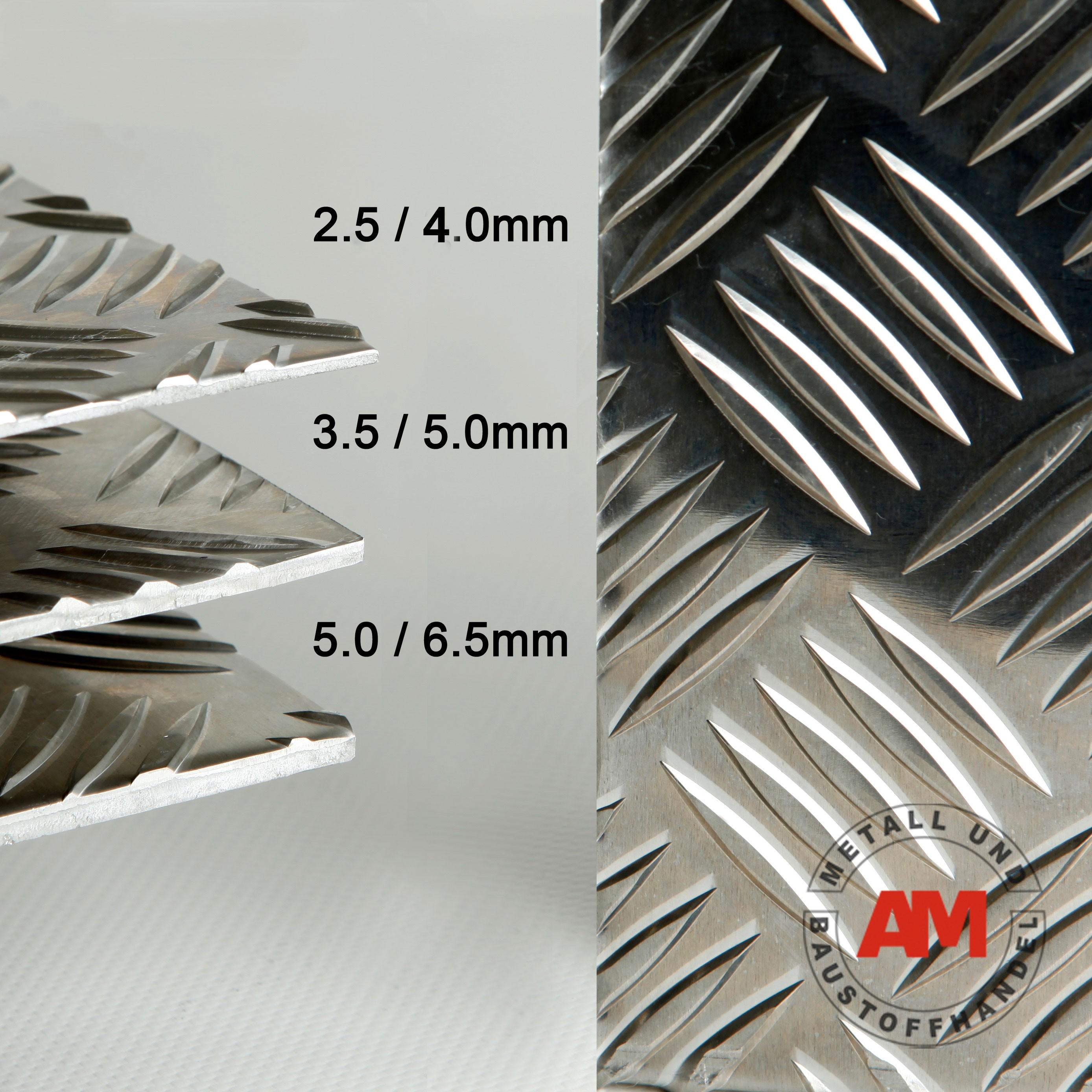 aluminium riffelblech warzenblech quintett zuschnitt alex metall. Black Bedroom Furniture Sets. Home Design Ideas