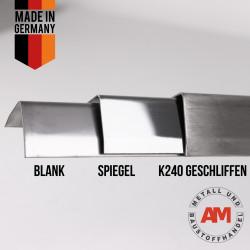 Edelstahl Winkel 3-fach gekantet Blank