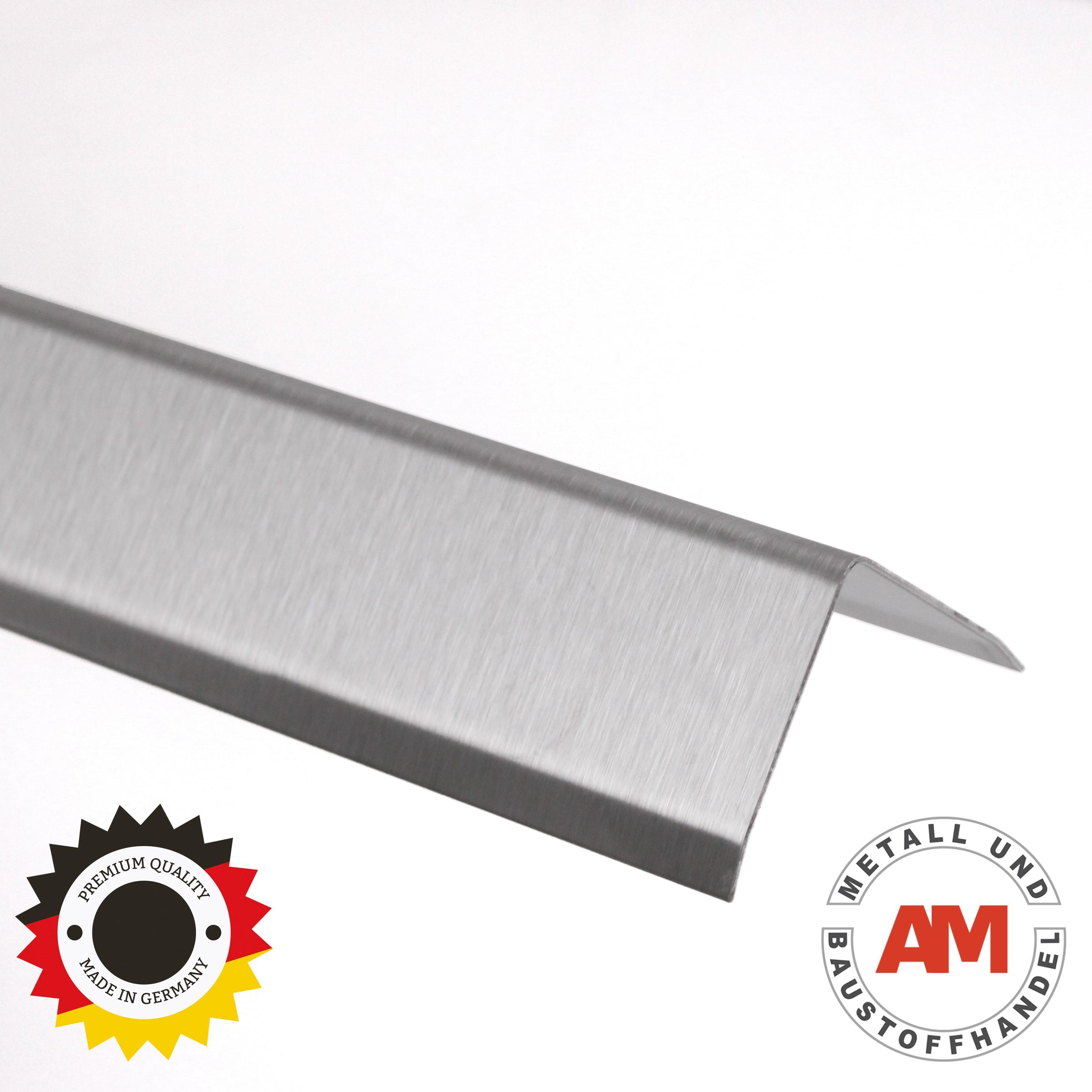 Edelstahl Winkel 3-fach gekantet K240 geschliffen