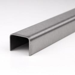 Edelstahl U-Profil K240 geschliffen