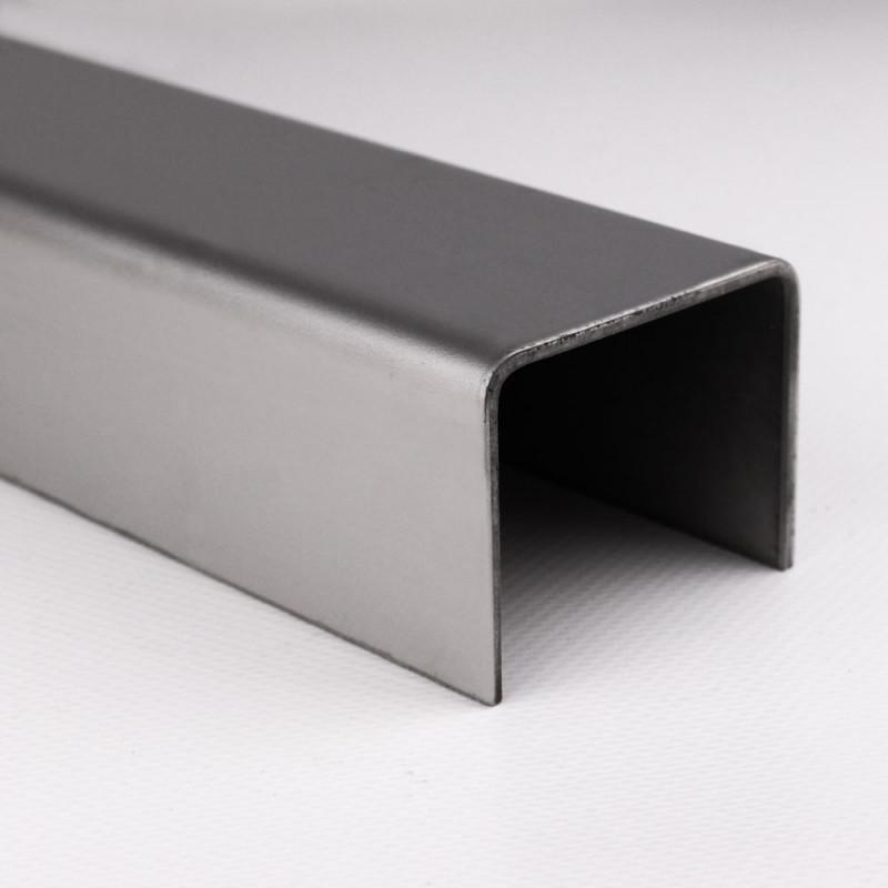 Aluminium U-Profil Glattblech gekantet