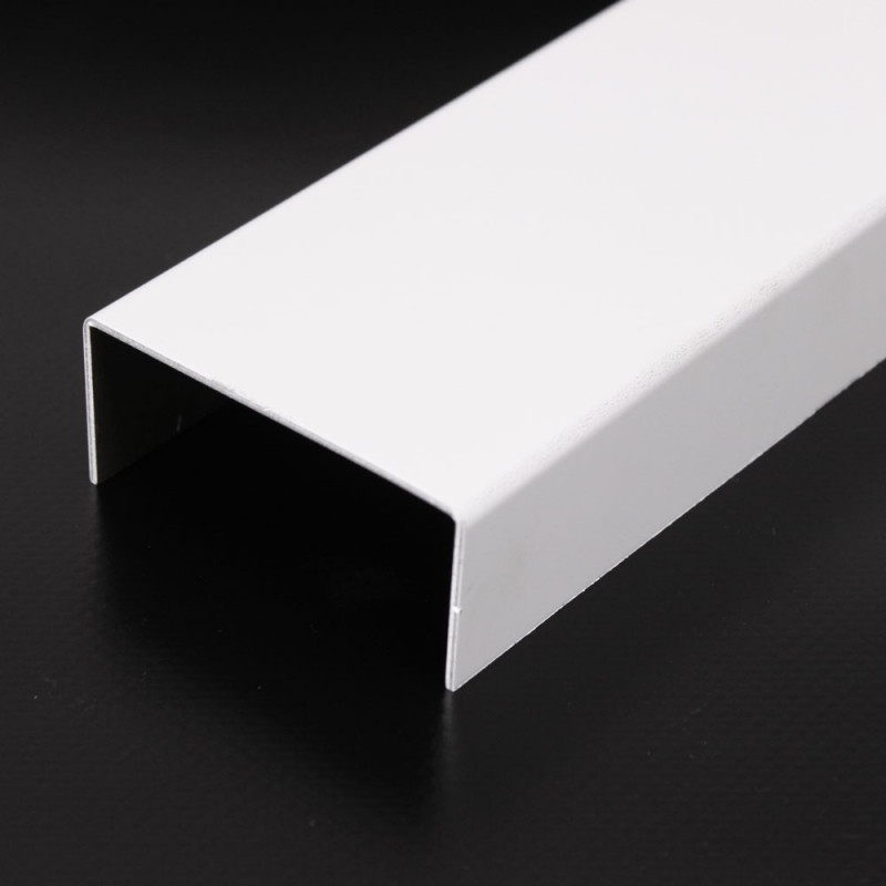 Aluminium U-Profil RAL 9016 Verkehrsweiß