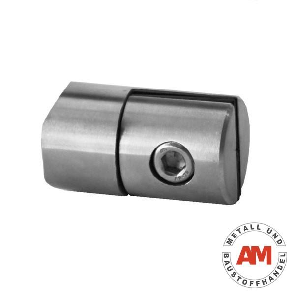 Edelstahl Blechhalter für Blech und Plexiglas Rundrohr Ø 42,4 mm