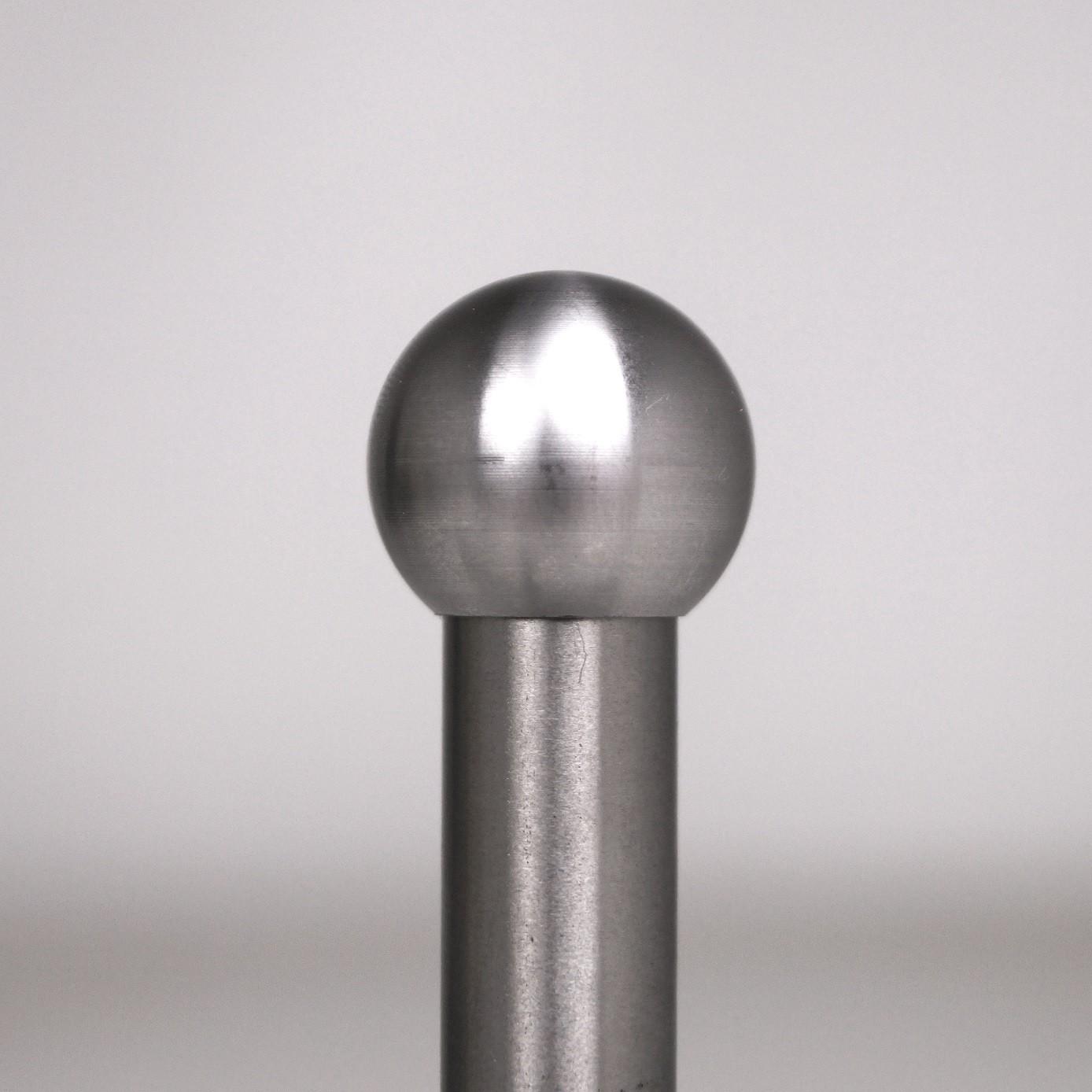 Edelstahl Kugelkappe Endkappe für Füllstab Rundstab Rohr V2A